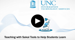 video on teaching with Sakai tools to help students learn