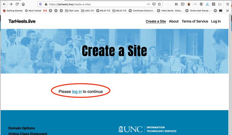 Create a Site login